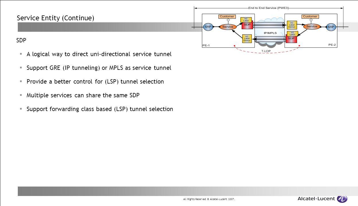 Service Entity (Continue)
