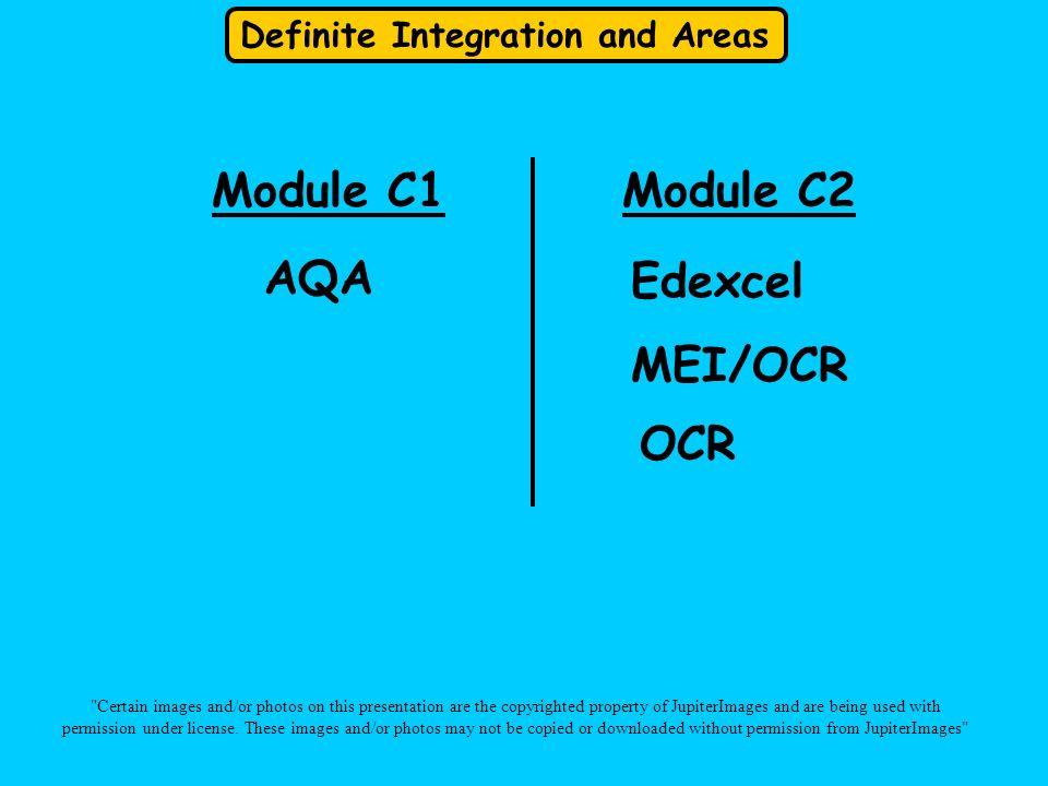 Module C1 Module C2 AQA Edexcel MEI/OCR OCR