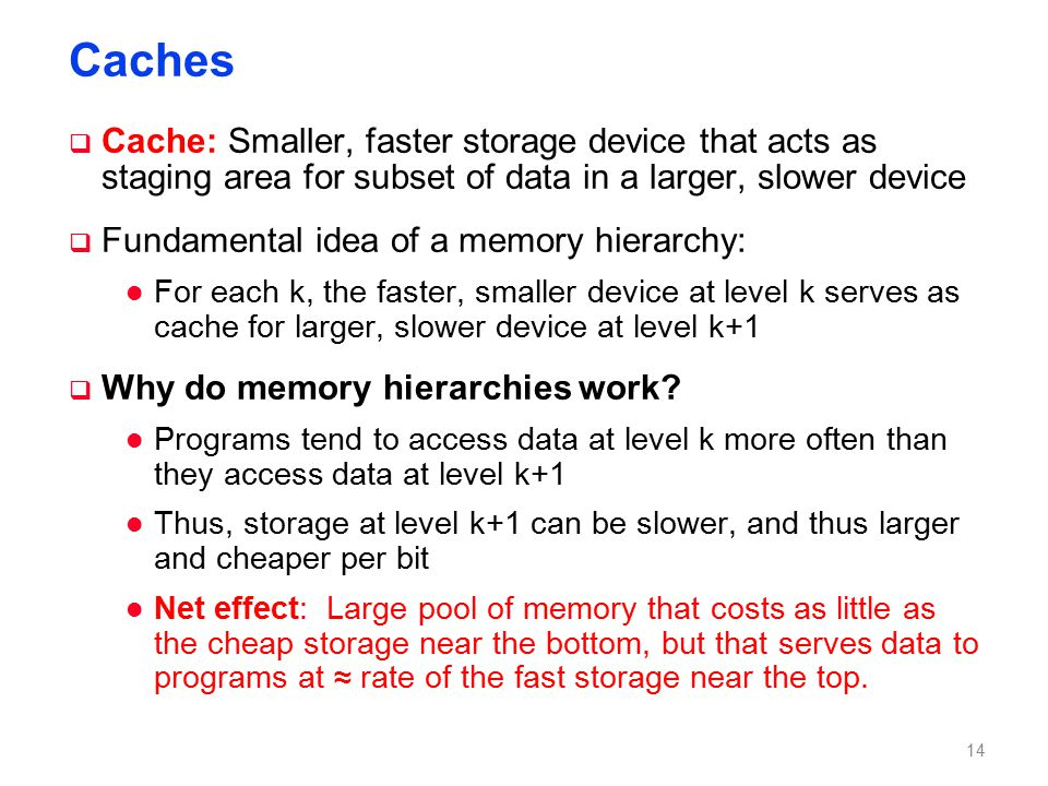 Caching in a Memory Hierarchy