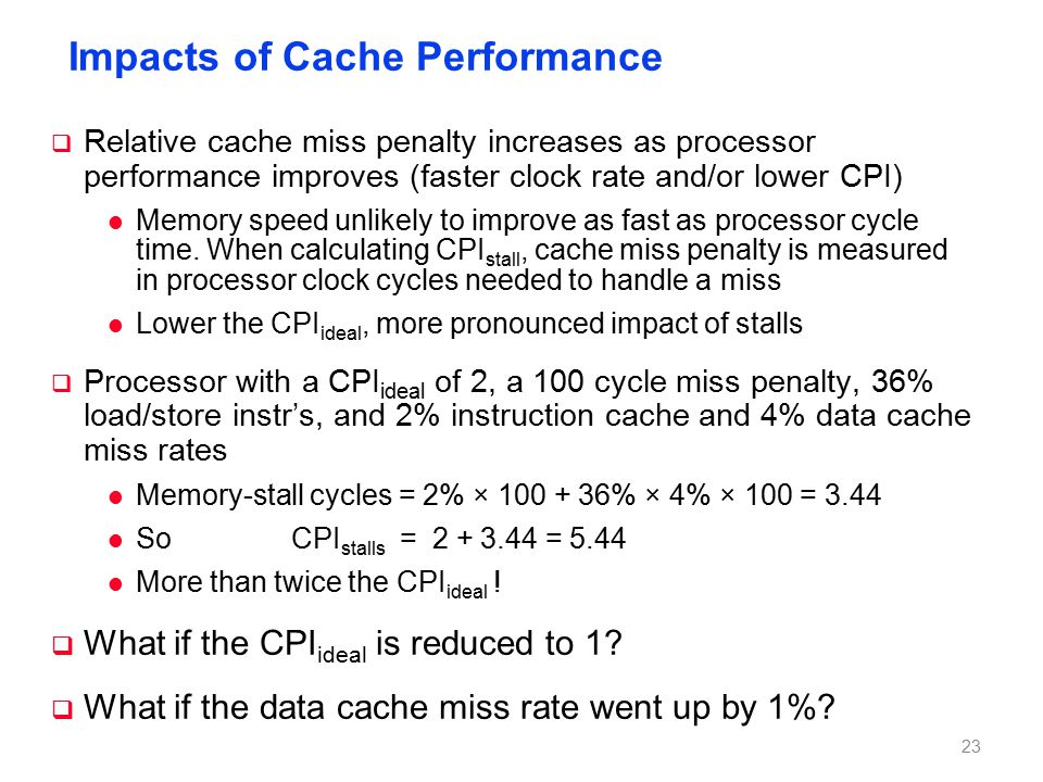 Multiple Cache Levels . Path of Data Back to CPU Main Memory L2$ L1$