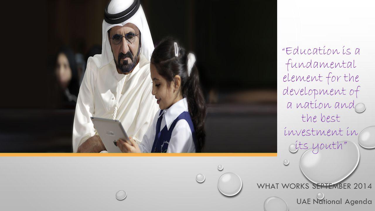 What WORKS September 2014 UAE National Agenda