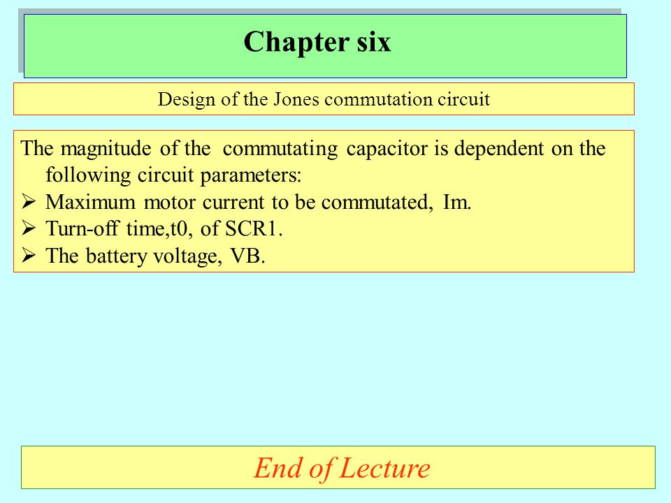 Design of the Jones commutation circuit