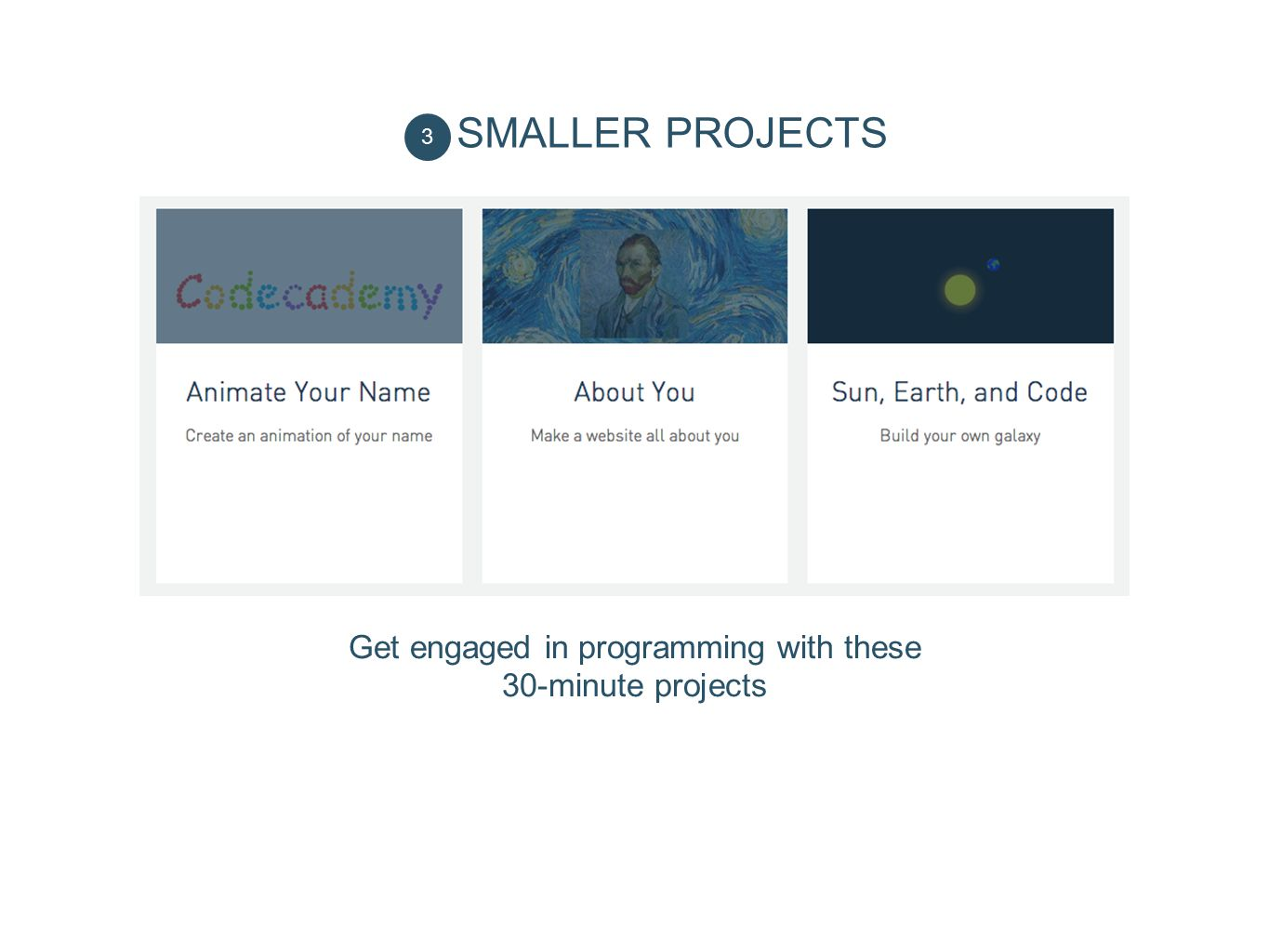 Get engaged in programming with these 30-minute projects