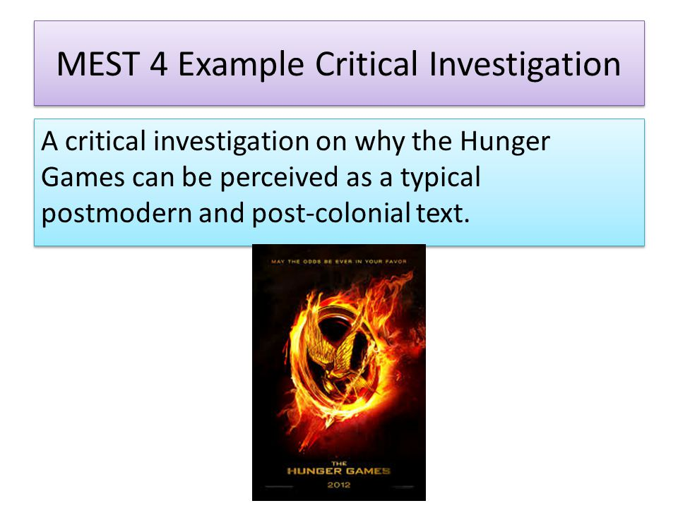 Post colonialism in the hunger games essay