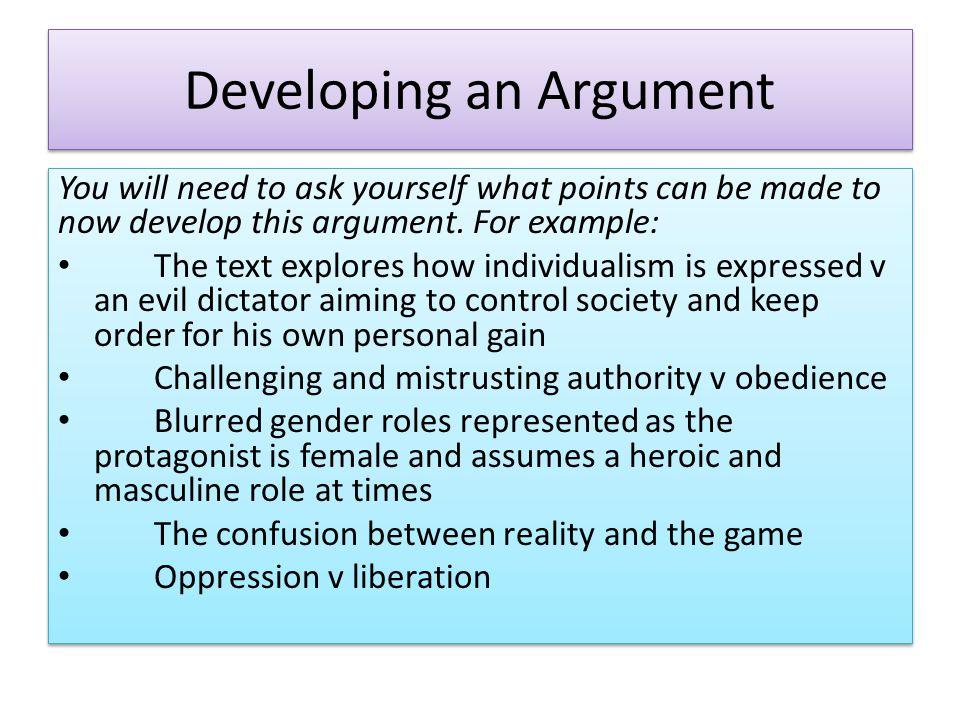 Developing an Argument
