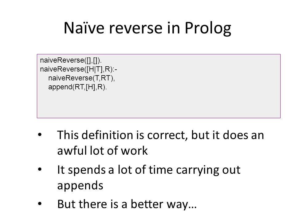 Naïve reverse in Prolog