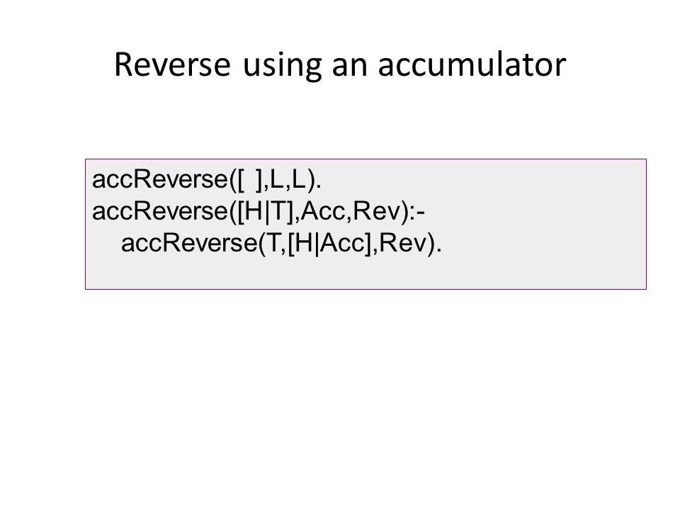Reverse using an accumulator