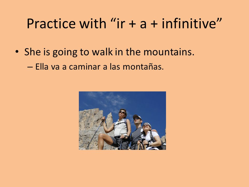 Practice with ir + a + infinitive