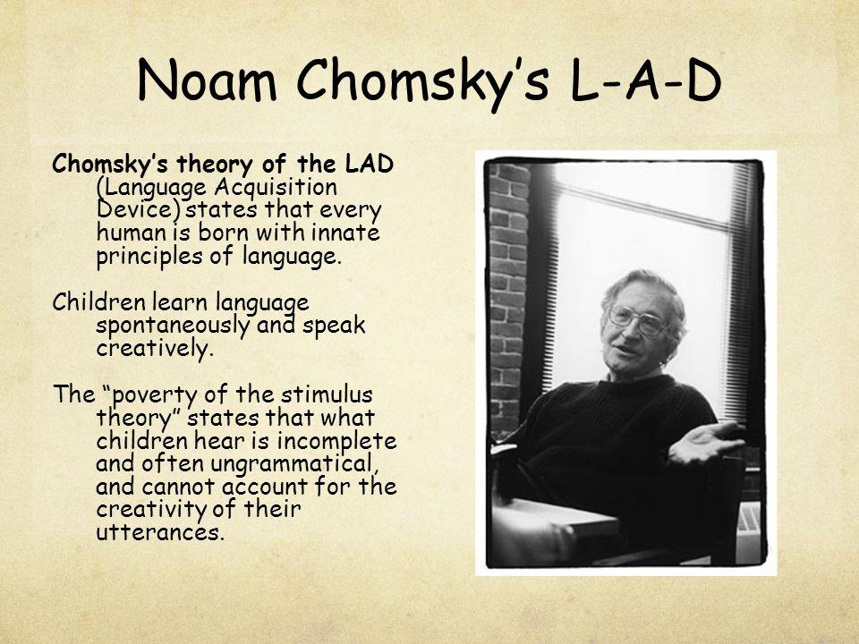 Noam Chomsky's L-A-D