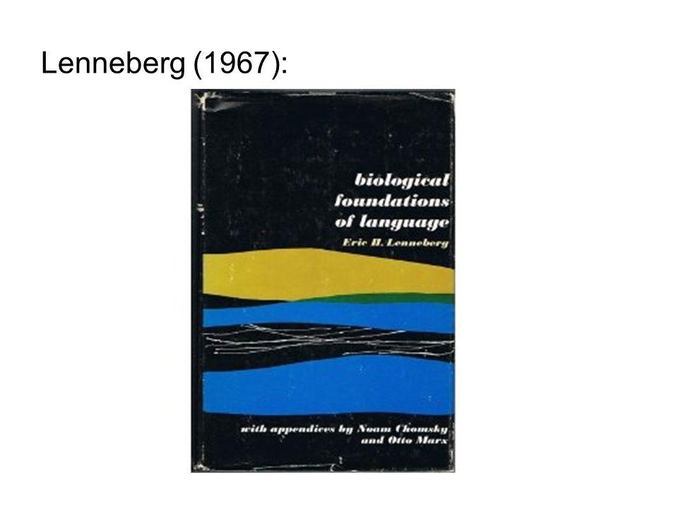 Lenneberg (1967):