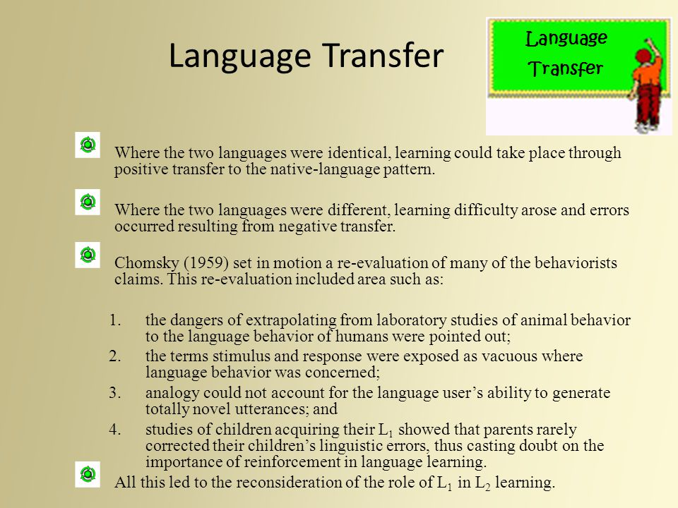 Language Transfer Language Transfer
