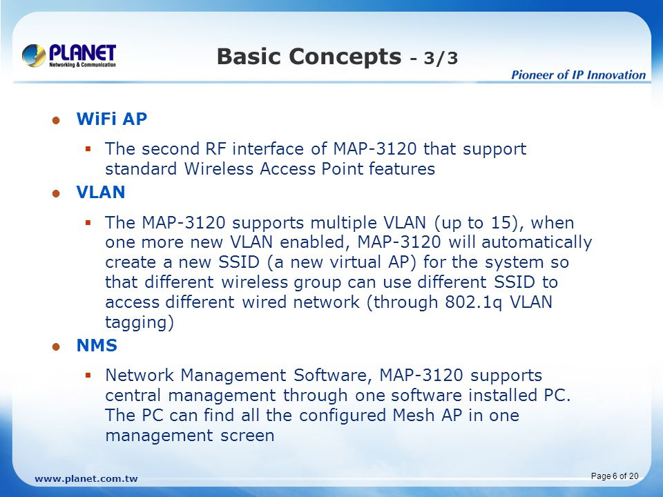 Basic Concepts - 3/3 WiFi AP