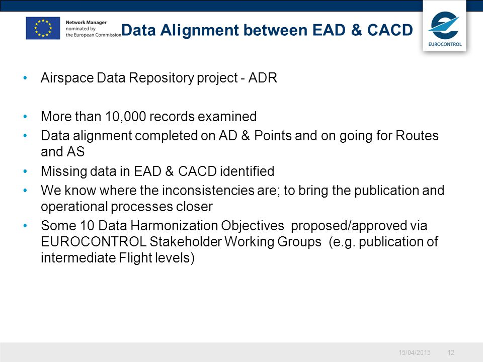 Data Alignment between EAD & CACD