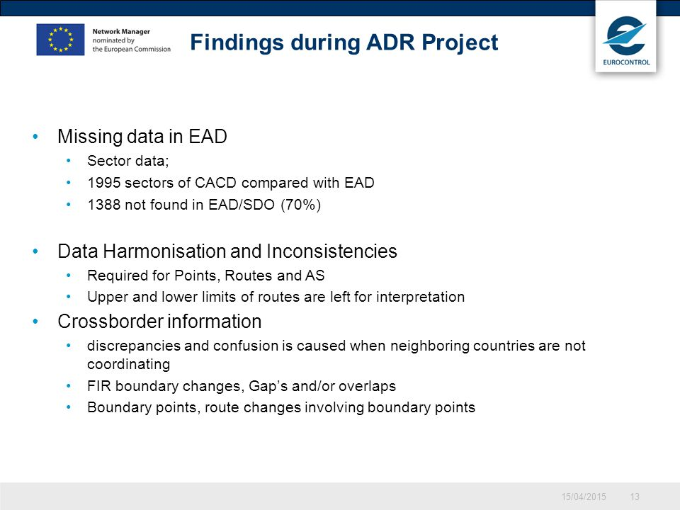 Findings during ADR Project