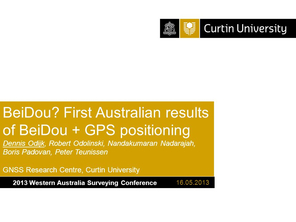 2013 Western Australia Surveying Conference