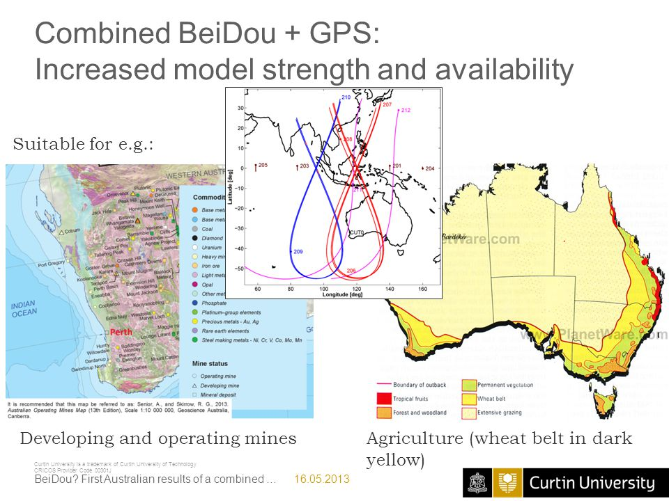 Combined BeiDou + GPS: Increased model strength and availability