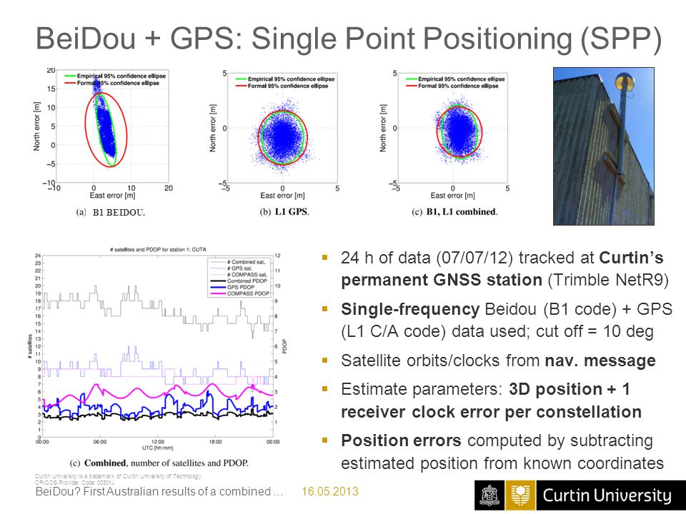 BeiDou + GPS: Single Point Positioning (SPP)