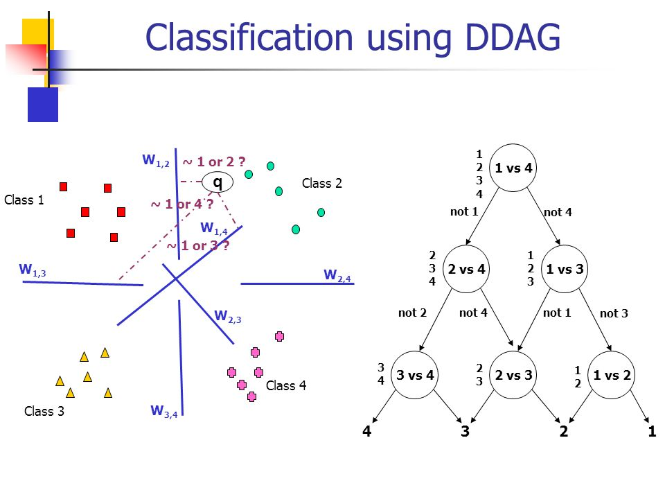 Classification using DDAG
