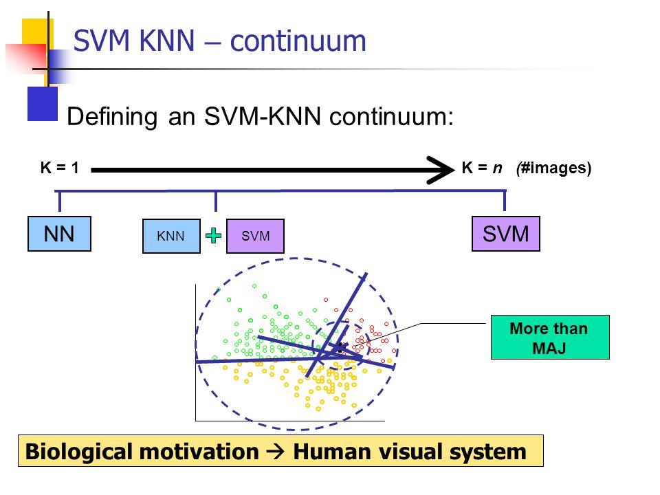 SVM KNN – continuum Defining an SVM-KNN continuum: NN SVM