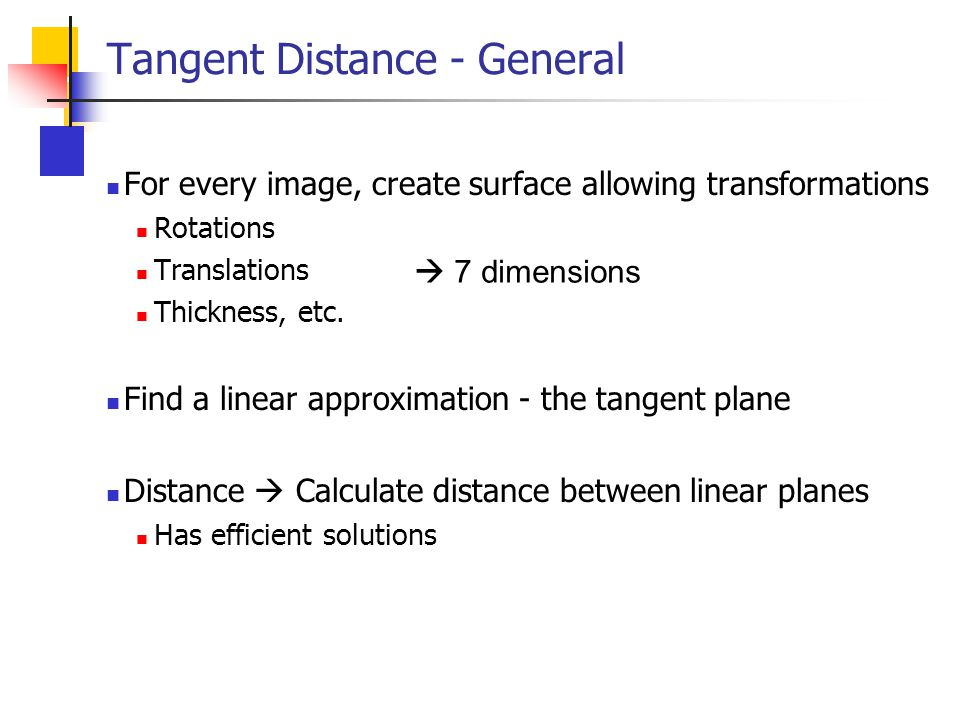 Tangent Distance - General