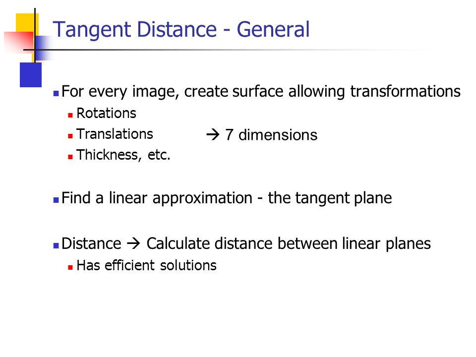 Tangent Distance - General