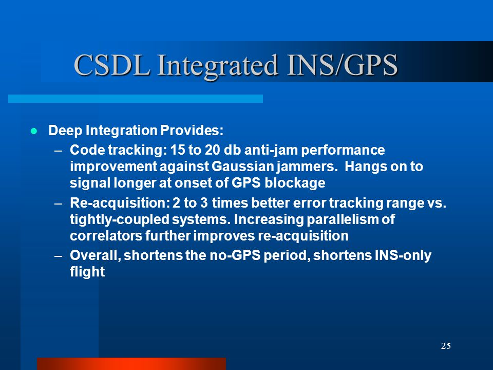 CSDL Integrated INS/GPS