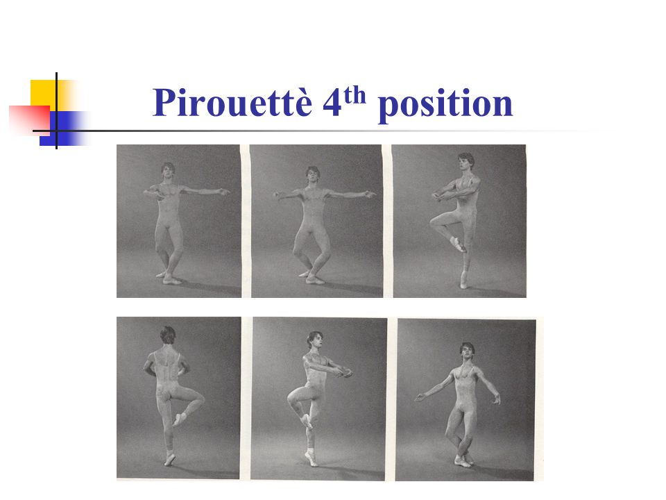 Pirouettè 4th position