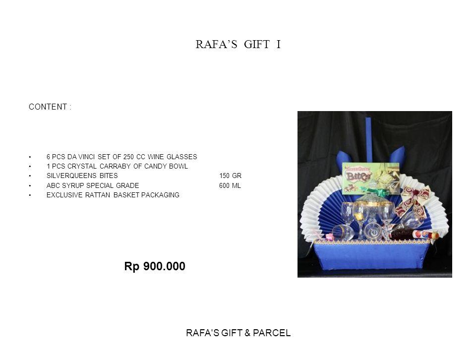 RAFA'S GIFT I Rp 900.000 RAFA S GIFT & PARCEL CONTENT :