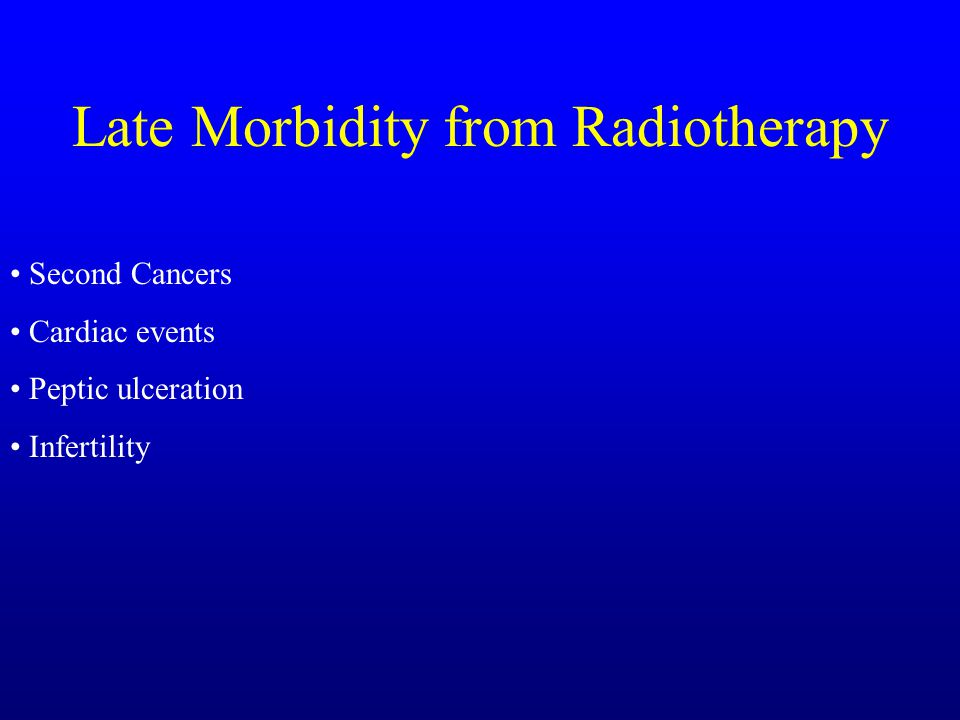 Late Morbidity from Radiotherapy