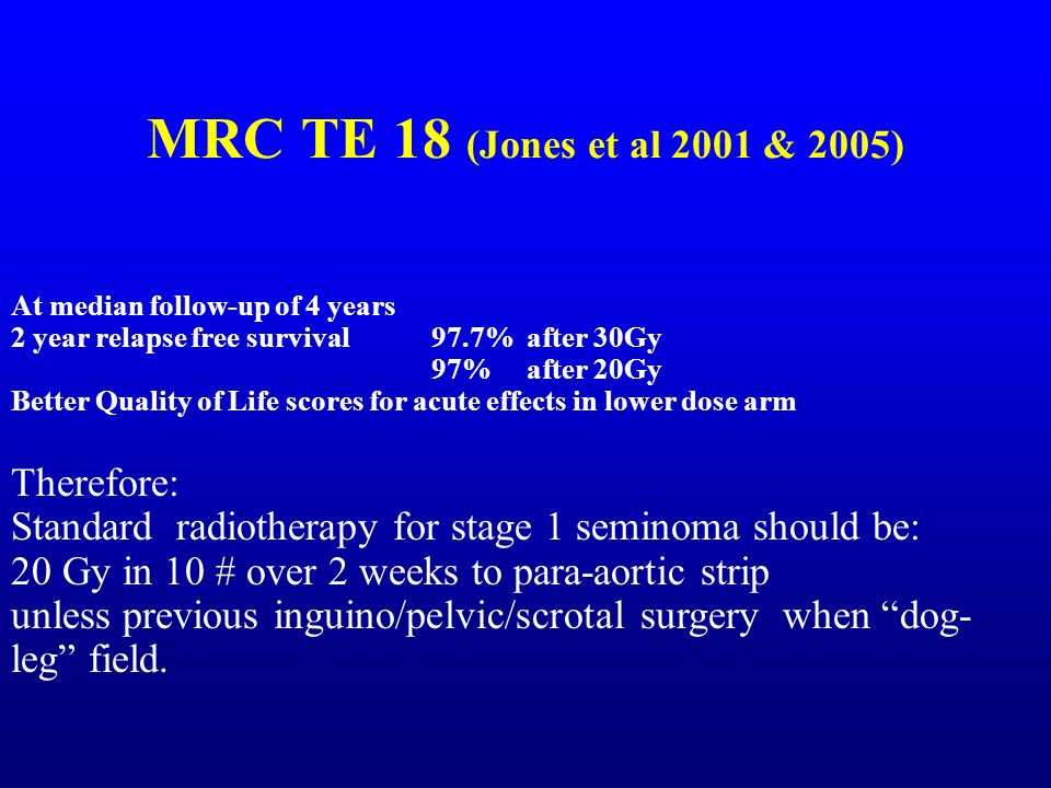 MRC TE 18 (Jones et al 2001 & 2005) Therefore: