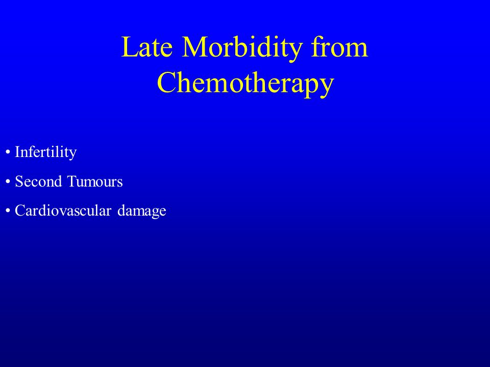 Late Morbidity from Chemotherapy