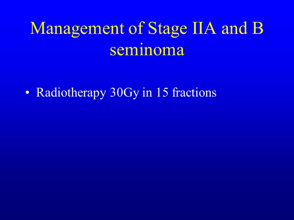 Management of Stage IIA and B seminoma