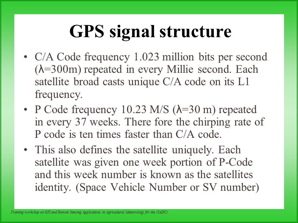 GPS signal structure