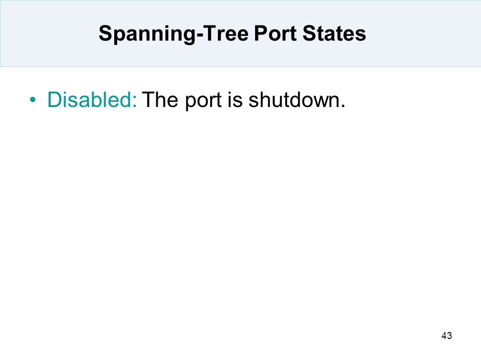 Spanning-Tree Port States