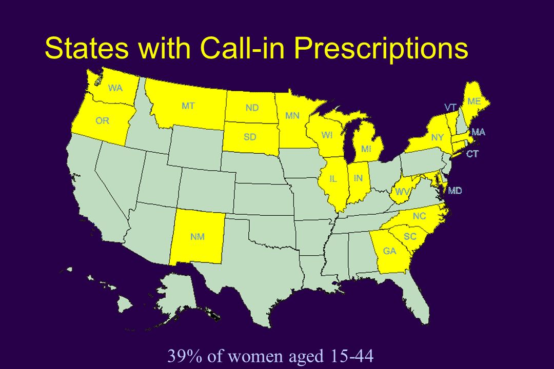 States with Call-in Prescriptions