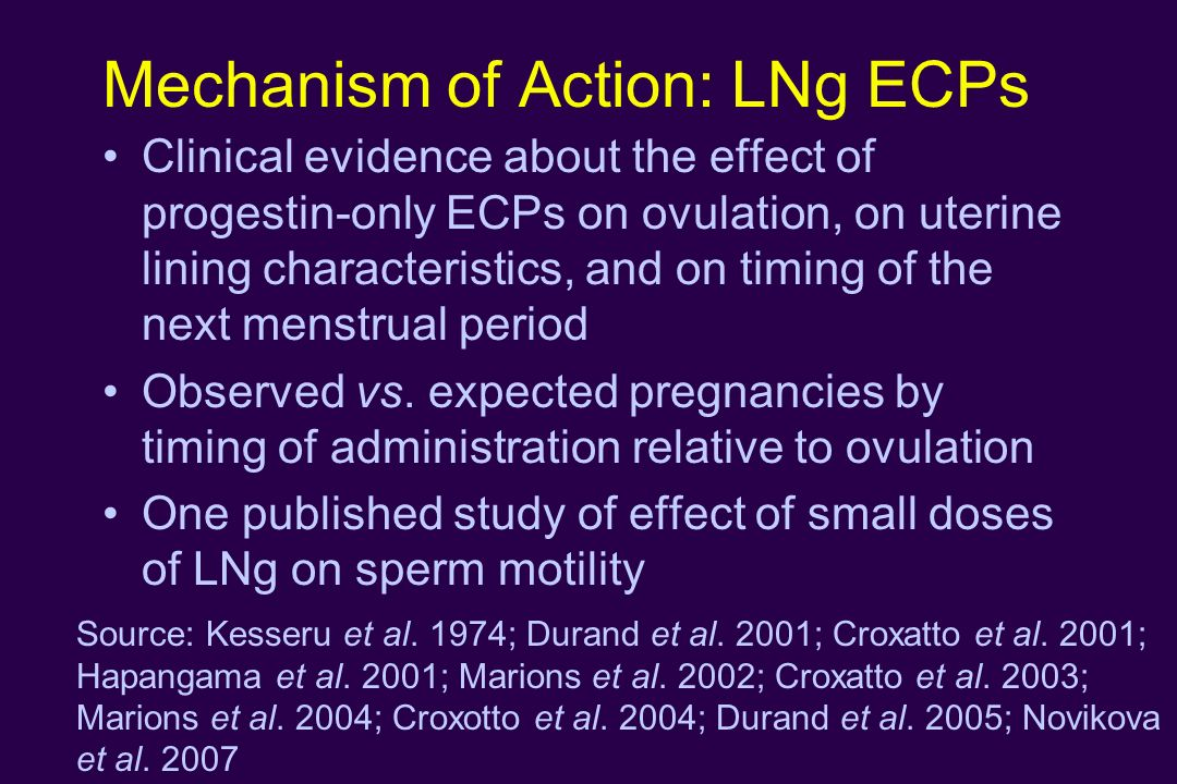 Mechanism of Action: LNg ECPs