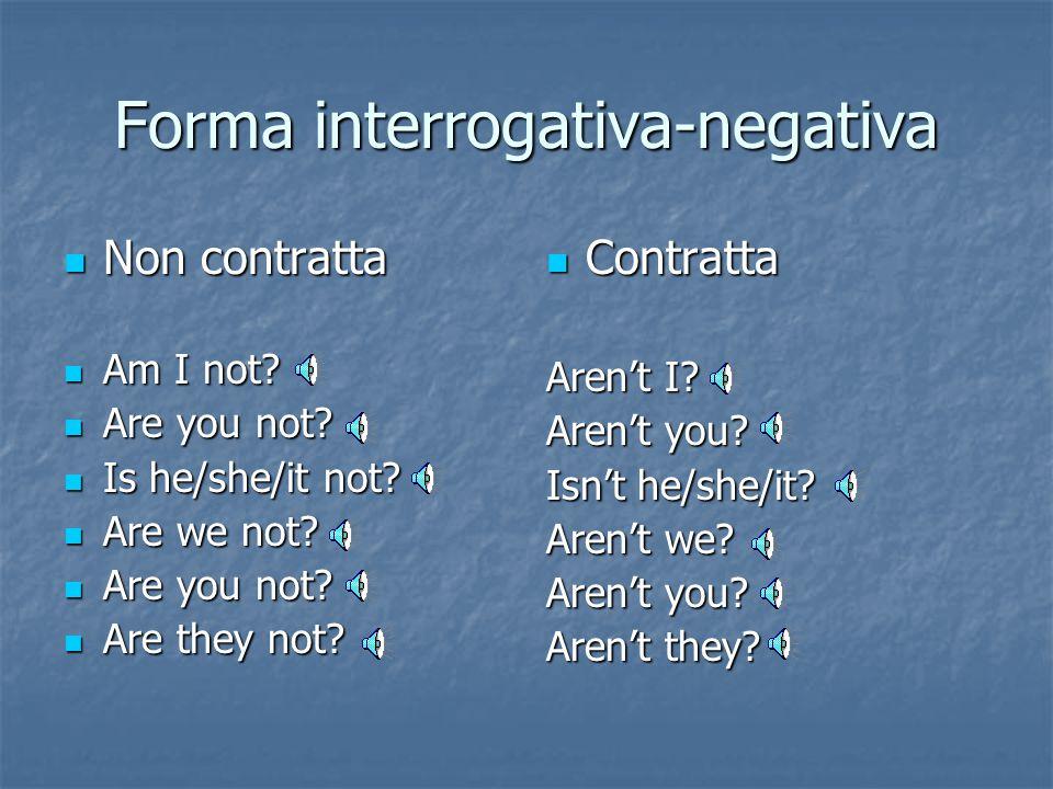 Forma interrogativa-negativa
