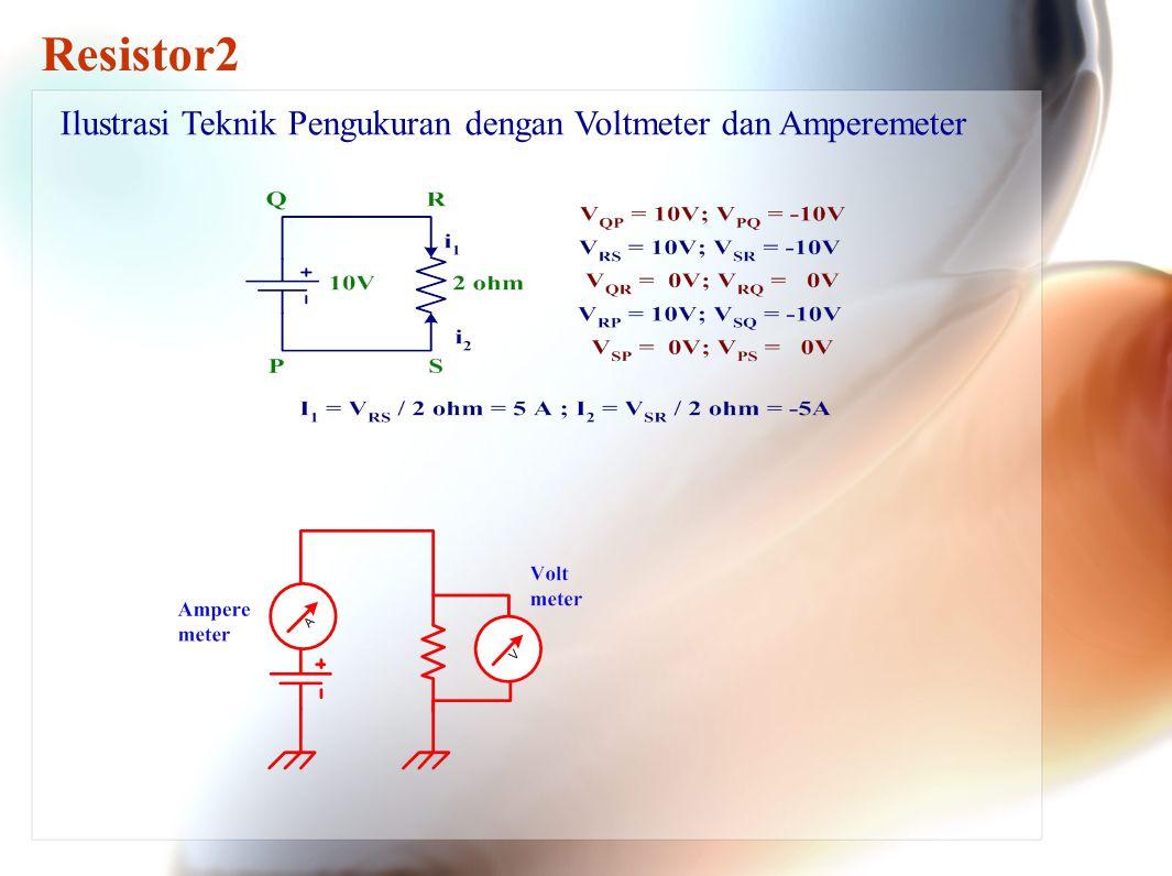 Resistor2 Ilustrasi Teknik Pengukuran dengan Voltmeter dan Amperemeter