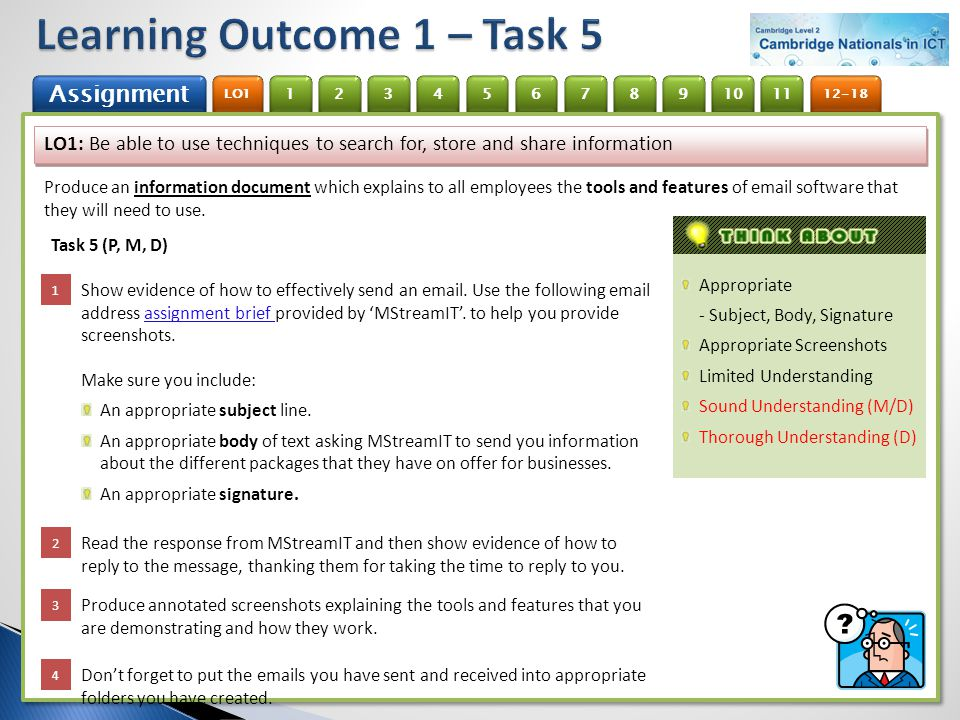 Learning Outcome 1 – Task 5