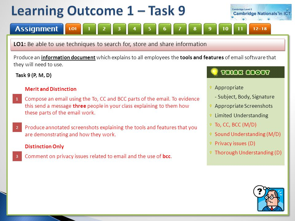 Learning Outcome 1 – Task 9