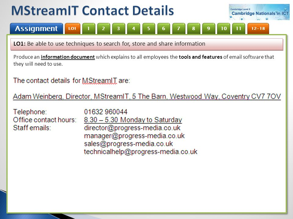 MStreamIT Contact Details
