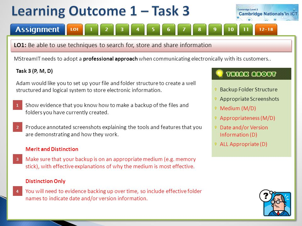 Learning Outcome 1 – Task 3