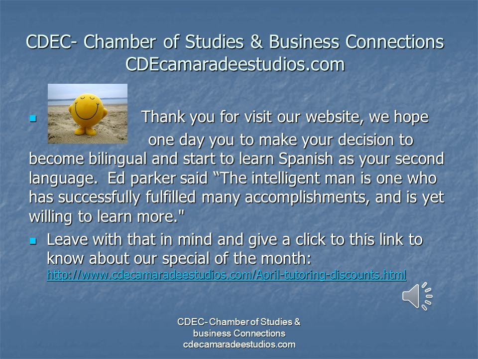 CDEC- Chamber of Studies & Business Connections CDEcamaradeestudios