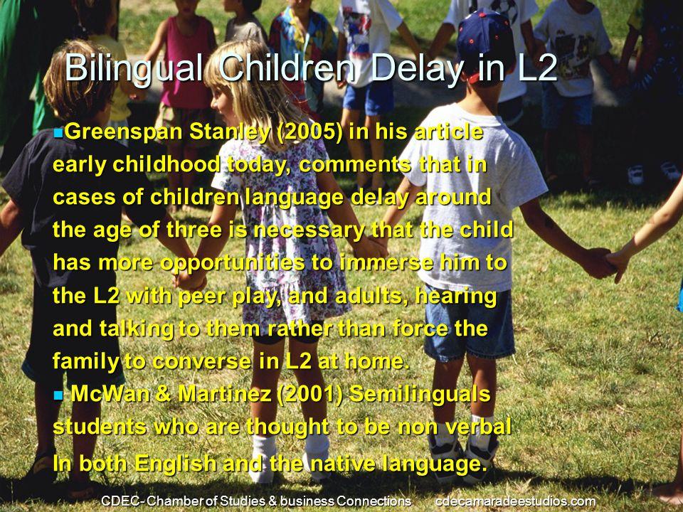 Bilingual Children Delay in L2