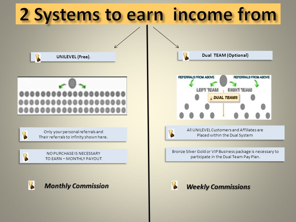 2 Systems to earn income from