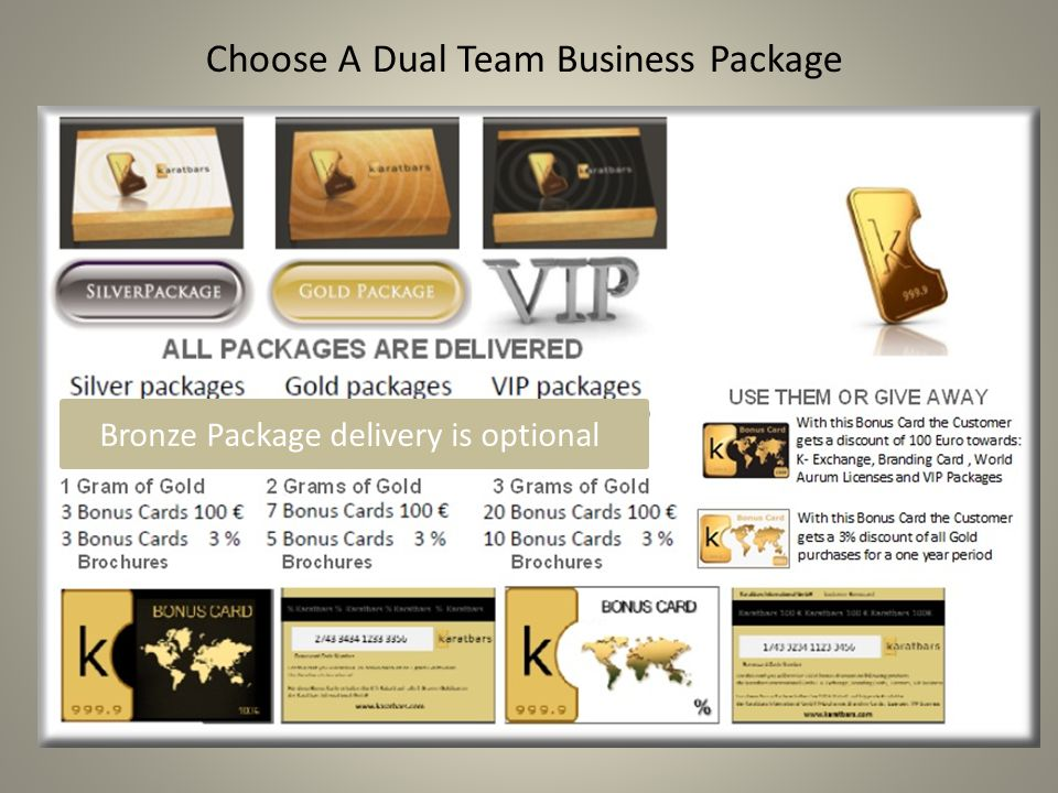 Choose A Dual Team Business Package