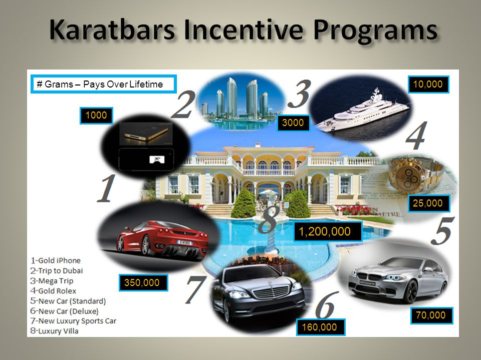 Karatbars Incentive Programs