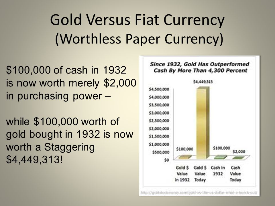 Gold Versus Fiat Currency