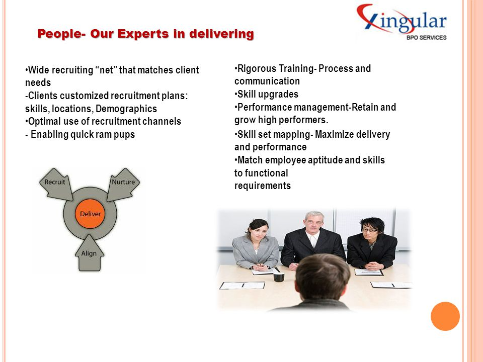 People- Our Experts in delivering