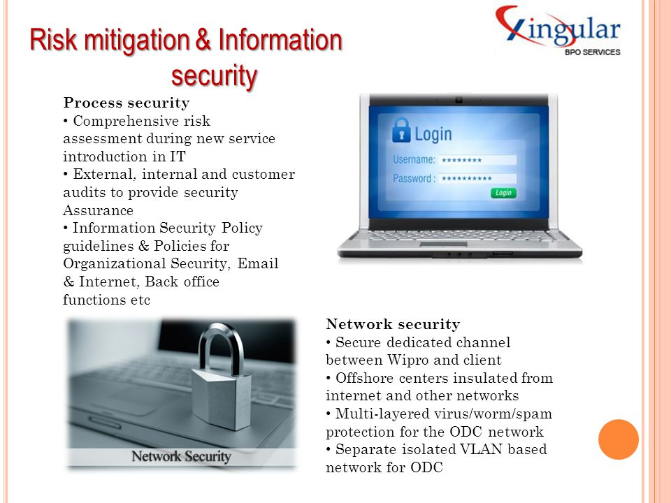 Risk mitigation & Information security